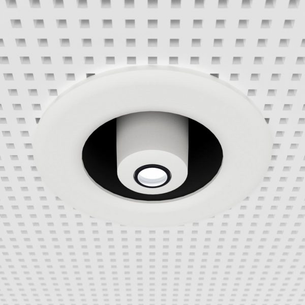 gobo projector for suspended ceilings - white