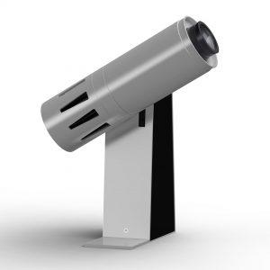 LED-Projektor für bewegte Lichteffekte - silbern