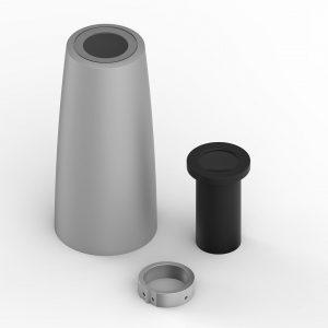Weitwinkelobjektiv für PHOS LED-Projektoren - silbern