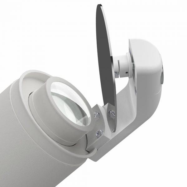 Rundspiegel für Gobo-Projektor - weiß
