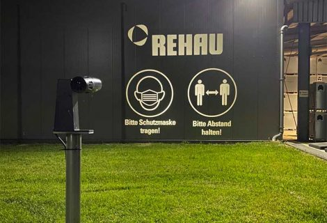 Infection prevention campaign at the REHAU plant