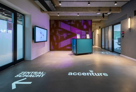 Guidance system and lighting design in the Accenture office