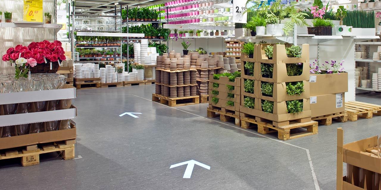 Projektion von Pfeilen - Ikea Essen